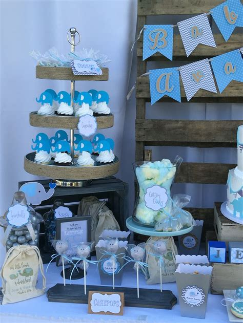 Blue Elephant Baby Shower Theme by Rustic Blue And Gray Elephant Baby Shower Theme Nifty