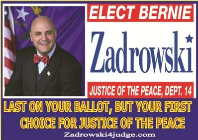 Goodsprings Justice Court Search Bernie Zadrowski For Justice Of The Peace Dept 14