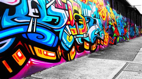 colorful urban wallpaper urban art graffiti paint color psychedelic wall wallpaper