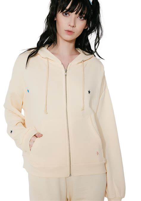 Zipper Hoodie Starlet wildfox couture starlet embroidery zip hoodie dolls kill