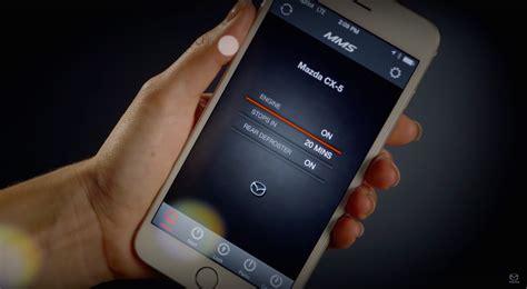 mazda mobile app mazda mobile start app remotely start lock sound
