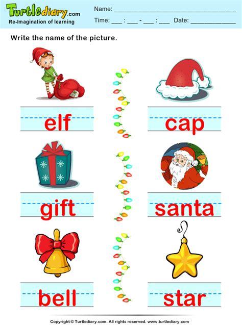 printable christmas spelling list christmas spelling words worksheet turtle diary