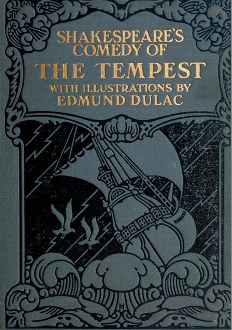 tempest books book cover by edmund dulac for shakespeare s quot the tempest