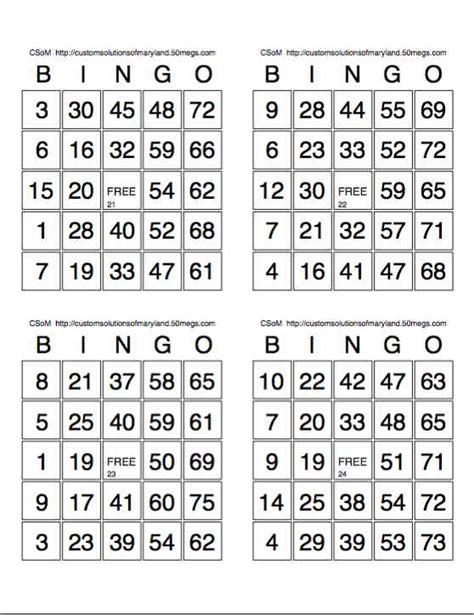 printable bingo cards bingo blank sheets new calendar template site