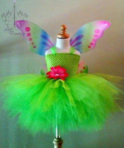 Pita Handmade Baby Tinkerbell create your own tutu dress set wings infant toddler 2t 3 t 4t 5 6 7 8 9 10