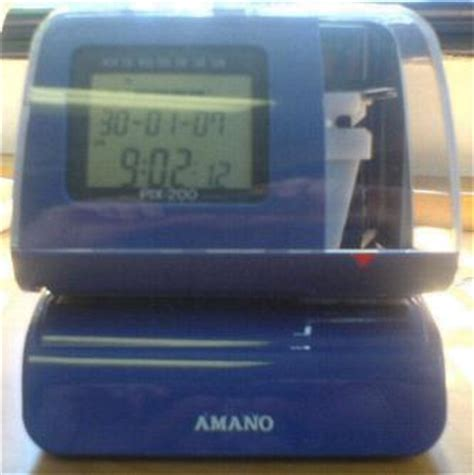 Amano Pix 200 Time Clock amano pix200