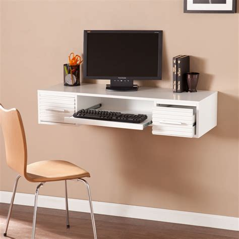 Simon Wall Mount Desk White Desks Home Office Shop Wall Office Desk