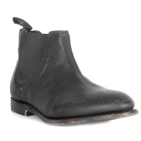 ash black leather boots