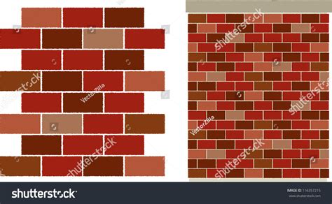 svg pattern editor vector red varied brick wall pattern stock vector
