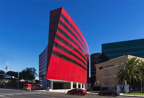 design a building pacific design center red building