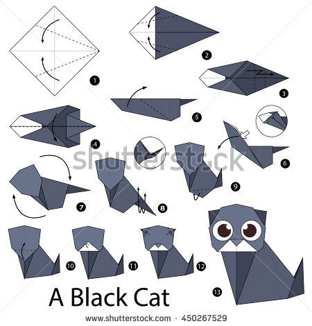 How To Make A Paper Cat Step By Step - tofang s portfolio on