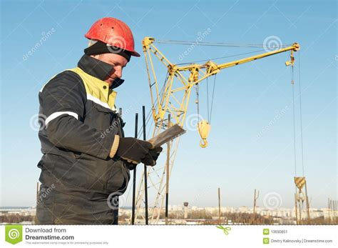 Construction Foreman by Foreman Worker At Construction Site Stock Image Image 13690851