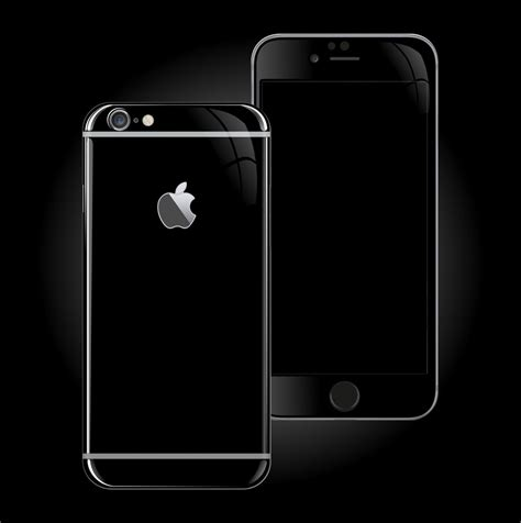 iphone 6s plus jet black high gloss skin wrap decal easyskinz