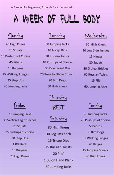 week routine working out at home fit page 2