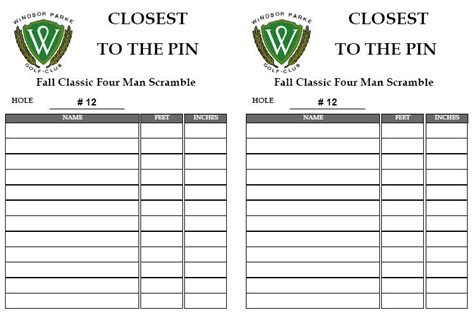 golf outing sign up sheet template reports and lists