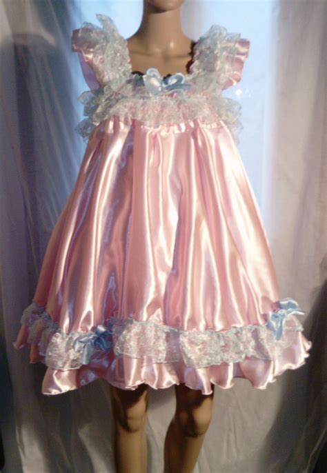 sissy baby in satin dress sale all sizes 50 gbp adult baby sissy satin dress top in