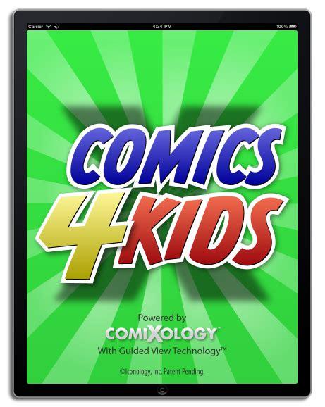 xo zach books digital comics comixology announces comics4kids app