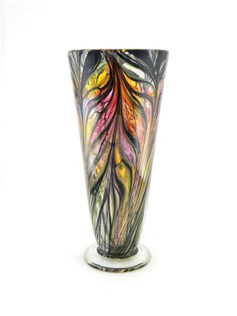 Blown Glass Vases by Blown Glass Vase Iridescent By Paradiseartglass
