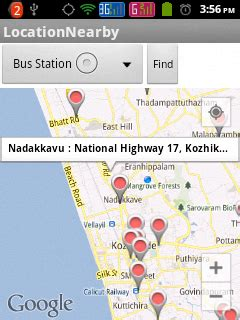 Android Nearby Places Exle by Showing Nearby Places Using Places Api And