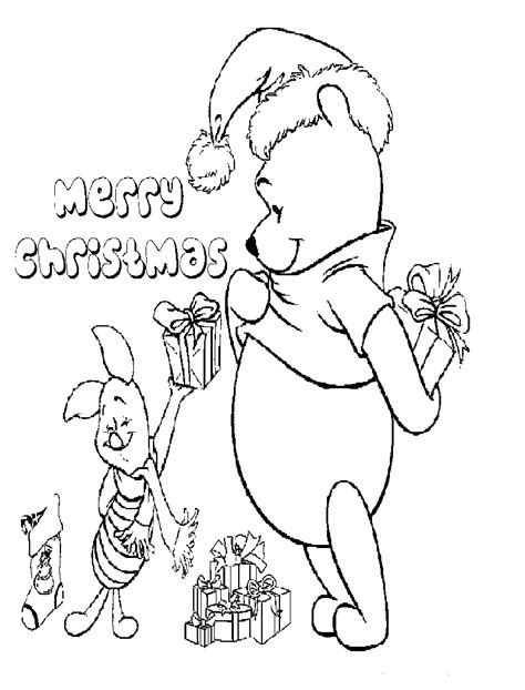 winnie the pooh christmas coloring pages kids coloring pages
