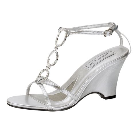 silver wedding shoes wedges silver wedge wedding shoes