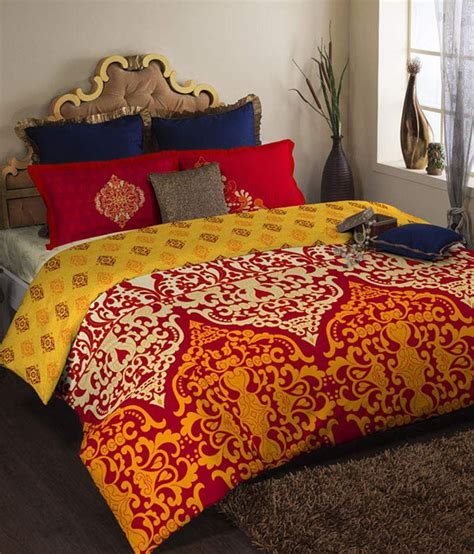red and yellow comforter portico new york shubhmangalam red yellow printed king