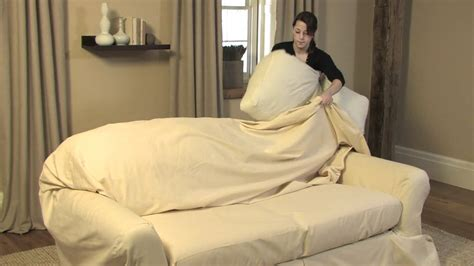 how to make a slip cover for a couch how to drape a loose fit separate seat sofa slipcover