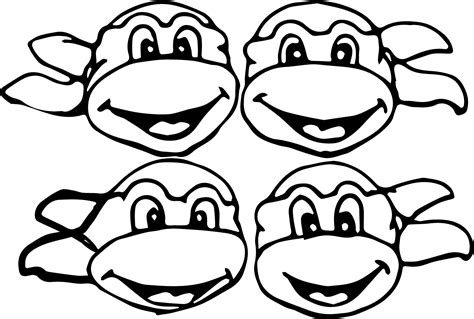 ninja turtle coloring page mask ninja turtle mask coloring page face pages grig3 org