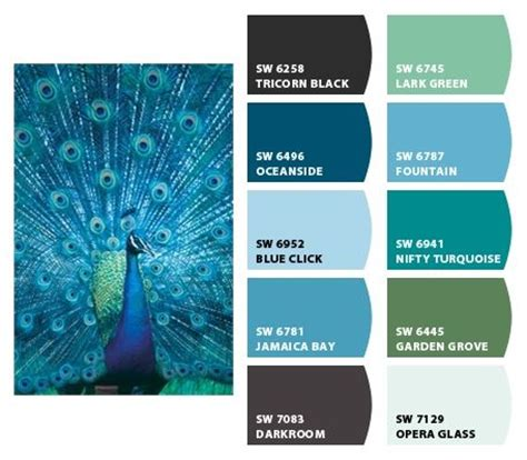 paint colors  chip   sherwin williams peacock