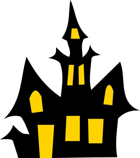 free haunted house halloween vector clipart illustration