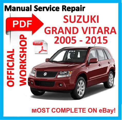vehicle repair manual 2010 suzuki grand vitara security system official workshop manual service repair for suzuki grand vitara 2005 2015 ebay