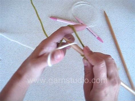 circular cast on knitting drops knitting tutorial how to do the provisional cast on