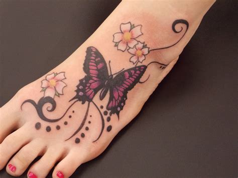 butterfly tattoos on foot 25 butterfly foot design ideas for