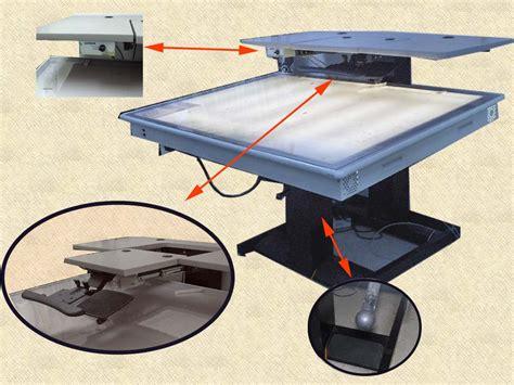 backlit drafting table gerber silhouette backlit drafting table