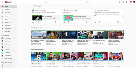 youtube swap switch between youtubes current and future homepage