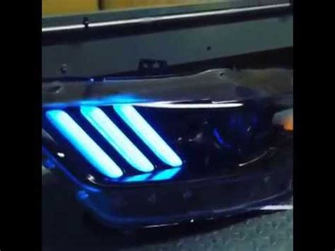 2016 mustang sequential lights sema 2015 mustang s550 headlights with color changing leds