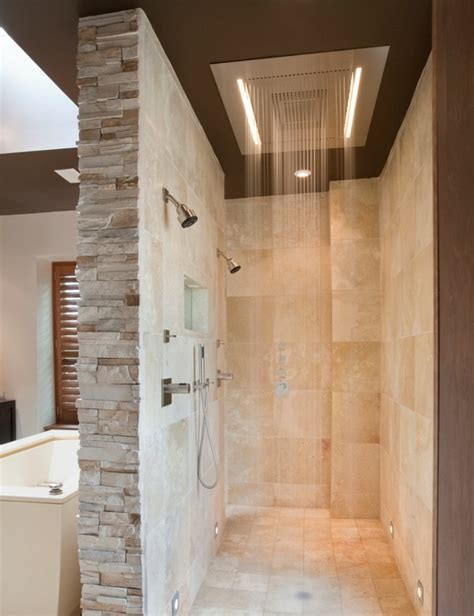 open showers doorless walk in shower designs snail shell joy studio