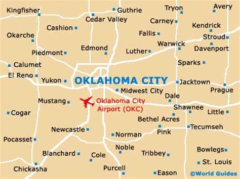 map usa oklahoma city map of will rogers world airport okc orientation and