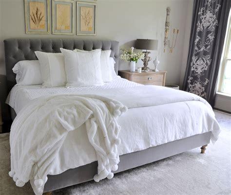 all white bedding the sheer bliss of linen decor gold designs