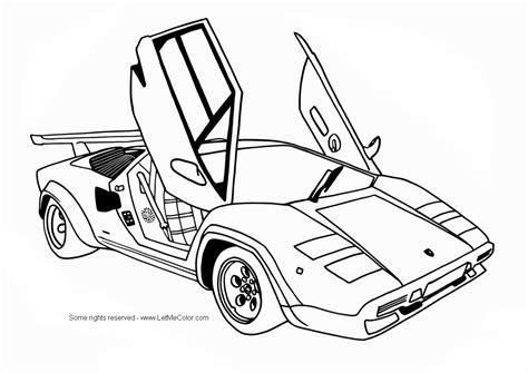 printable coloring pages cars free coloring sports cars