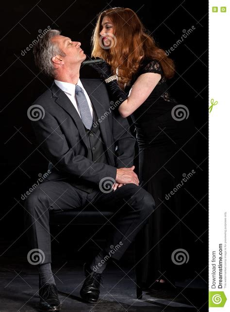 how to be a dominant woman in the bedroom man dominant woman couple film noir stock photo image of