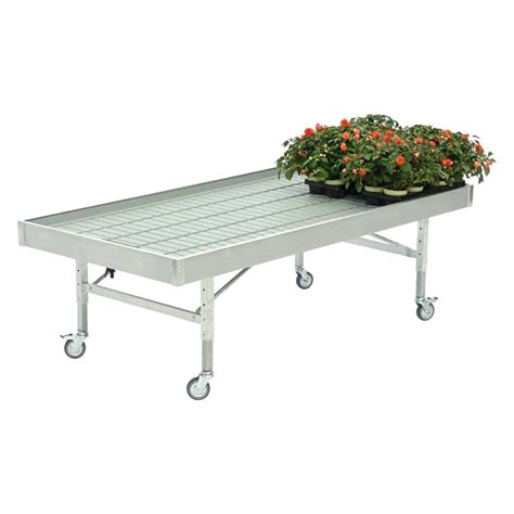 cost of benches aluminium low cost bench on wheels 1225 x 2530 mm 20