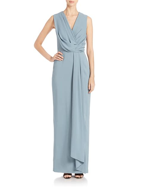 drape front dresses jason wu drape front dress in blue lyst