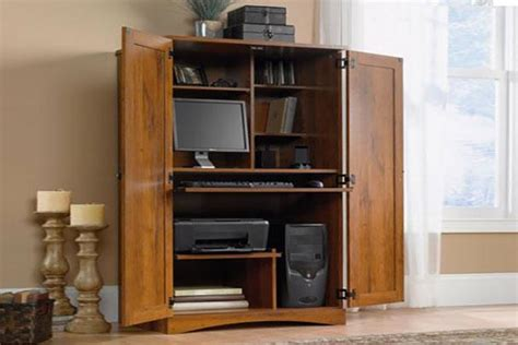 Sauder Harvest Mill Computer Armoire Armoires For Tv And Computer Lovetoknow