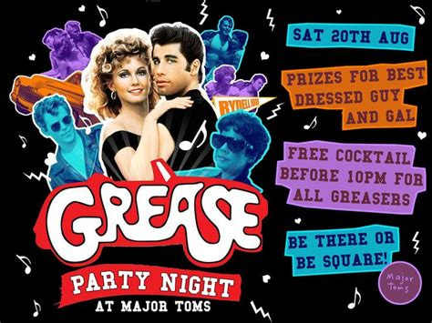 Grease Invitation Template Grease Party Invitations Cimvitation