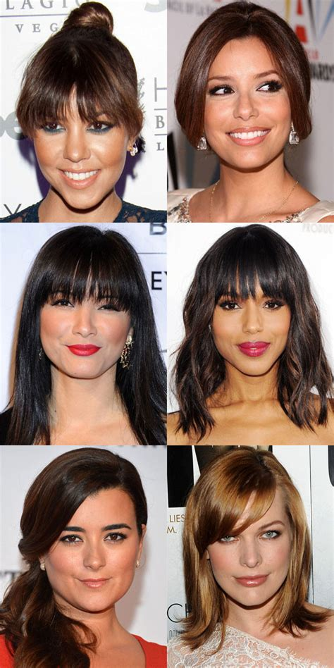 hair styles fine hair heart face cowlicks the best and worst bangs for heart shaped faces