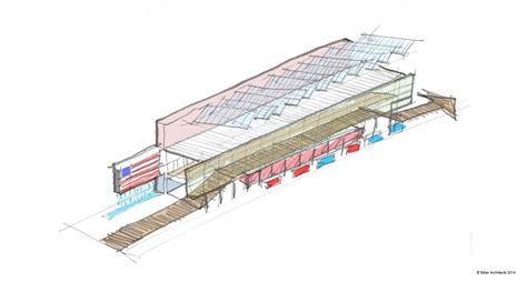 sketch in sketchbook gallery of usa pavilion milan expo 2015 biber