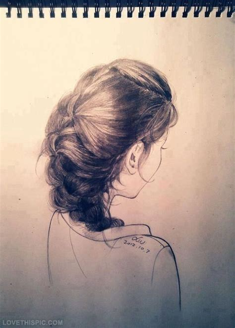realistic plait hair styles hair sketch hair art drawing sketch hair color hairstyle