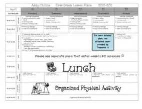 lesson plan template pre k lesson plan template pre k elementary school