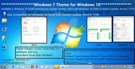 themes for windows 7 windows 10 windows 7 theme for windows 10 by win7tbar on deviantart